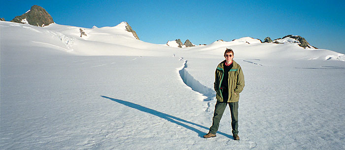 Clive Williamson on Franz Josef glacier, New Zealand