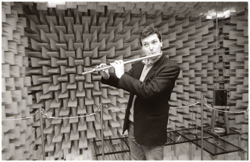 John Hackett in the Anechoic Chamber