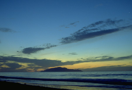 Kapiti Island at sunset by Clive Williamson